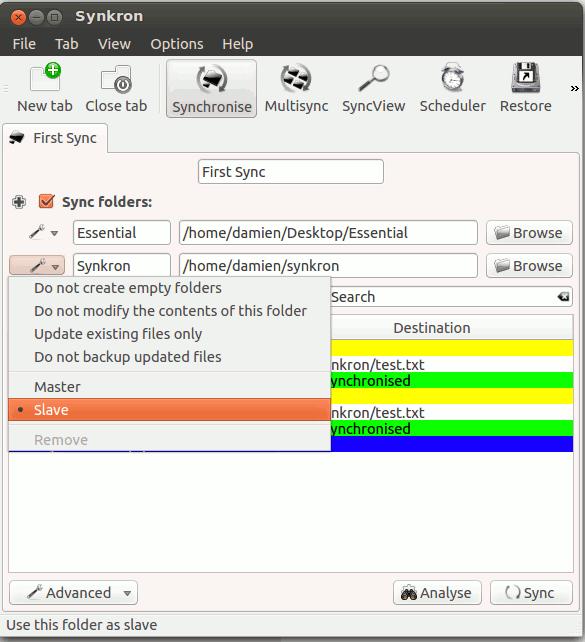 synkron-master-slave-folder