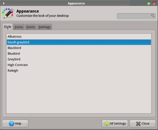 xfce-change-appearance-style