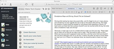 CheatSheet For the Updated Evernote App