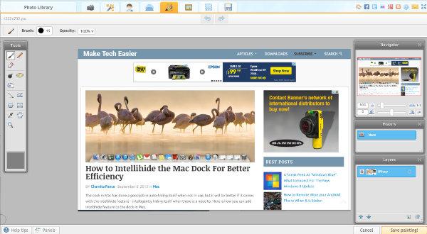 Online Image Editors - iPiccy-Painter