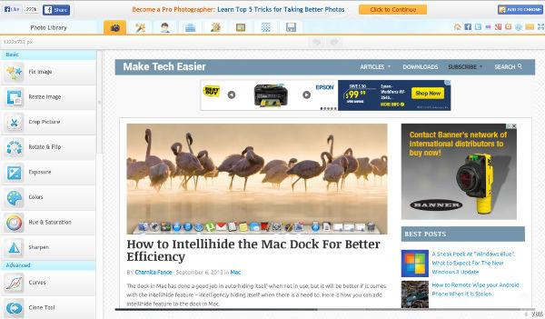 Online Image Editors - iPiccy