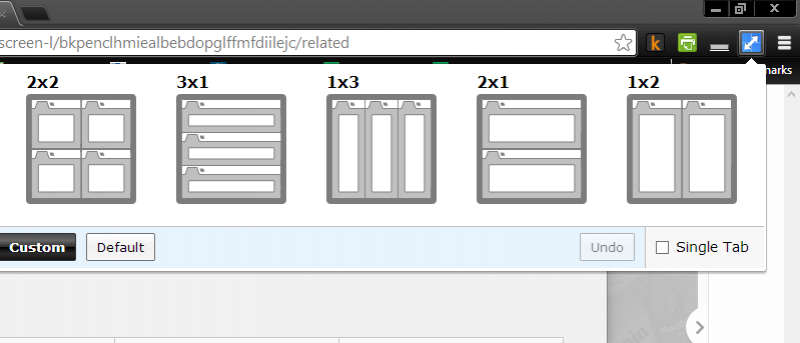 Split Screen Layouts and View Tabs Side by Side in Chrome