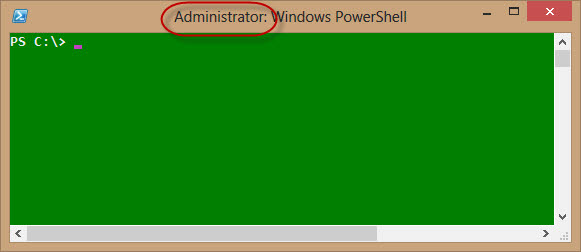 powershell with admin title