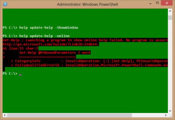 powershell help online error