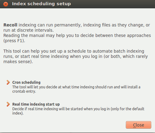 recoll-indexing-schedule