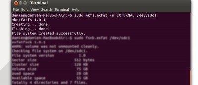How to Format External Hard Disk to exFAT Filesystem in Ubuntu