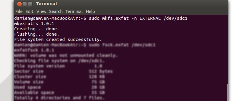 How to Format External Hard Disk to exFAT Filesystem in Ubuntu