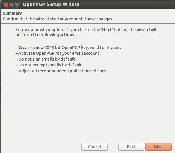 thunderbird OpenPGP Summary