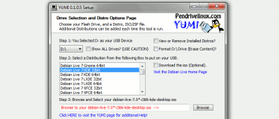 Create a MultiBoot Linux USB Drive With YUMI