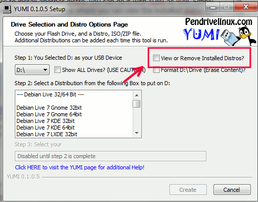yumo-remove-installed-distro-box
