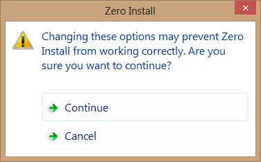 zero-install-warning