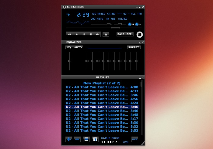 Audacious-With-winamp-interface