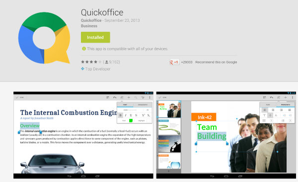 Quickoffice Vs Google Drive - Quickoffice Store