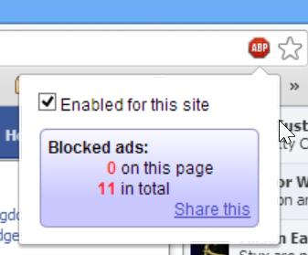 adblock_plus popup show ads blocked