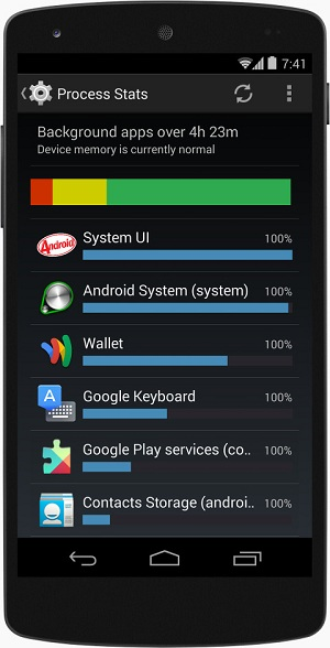 android4.4 - system memory