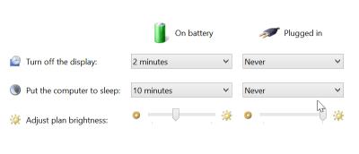 Disable Auto-Brightness Adjustment in Windows 8.1