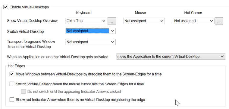 better desktop tool - virtual desktop configuration