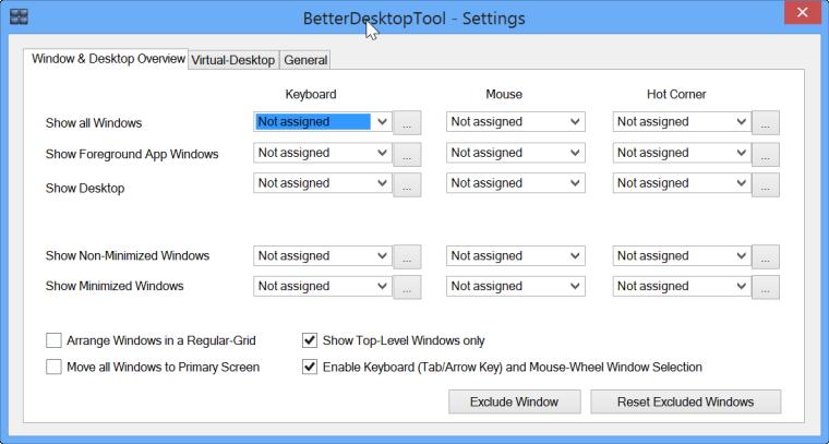 better desktop tool settings
