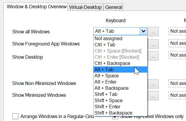 better desktop tool assign keyboard shortcut
