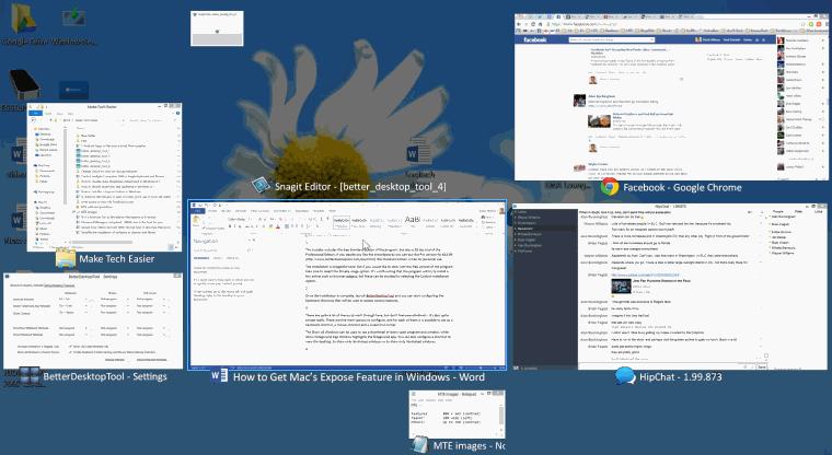 better desktop tool - Mac's expose in action