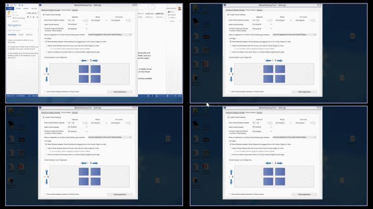 better desktop tool - virtual desktop in action