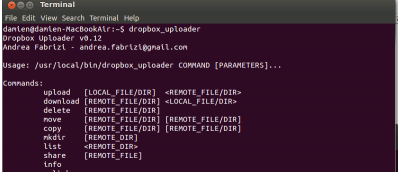 Manage Dropbox in Terminal With Dropbox Uploader