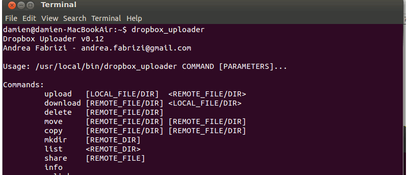 Manage Dropbox in Terminal With Dropbox Uploader - Make Tech Easier