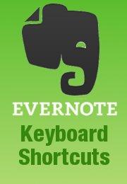 Evernote Keyboard Shortcuts Cheatsheet