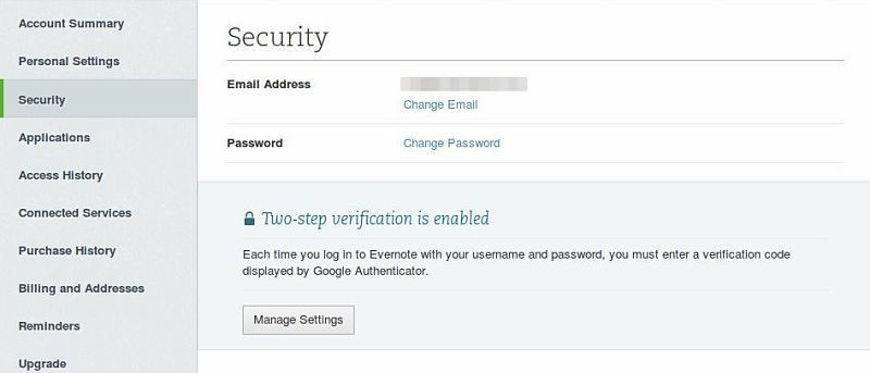 How to Enable Two-Step Verification for Evernote