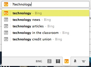 When using a ? before your search query, only web search suggestions will be displayed.