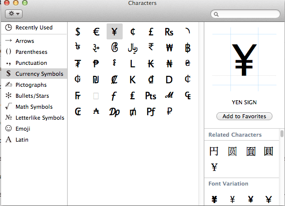 How To Type Euro Sign And Other Currency Symbols In Mac