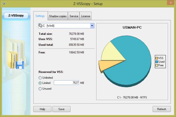 vss-z-copy-settings