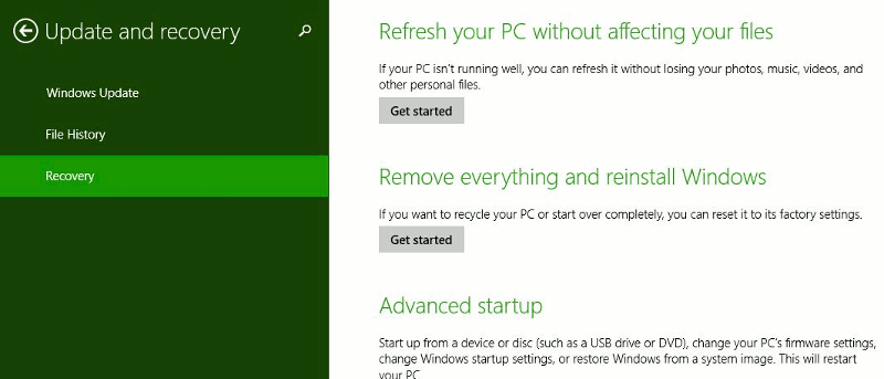 A Detailed Look At Windows 8.1 Update and Recovery