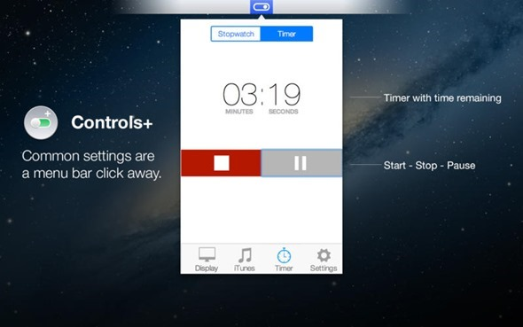 Controls+ for Mac - Stopwatch