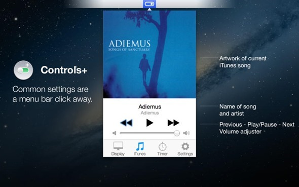 Controls+ Mac iTunes
