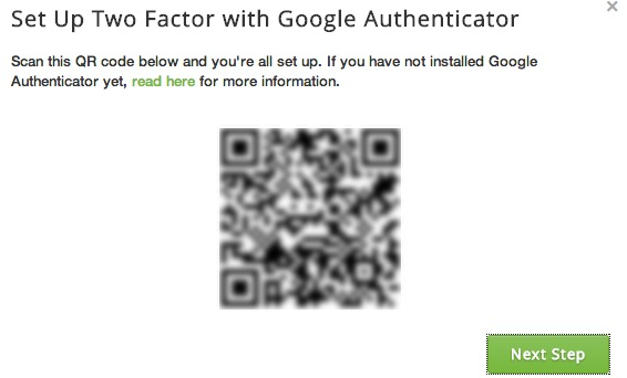 Scan the QR code to set up Google Authenticator with Buffer.