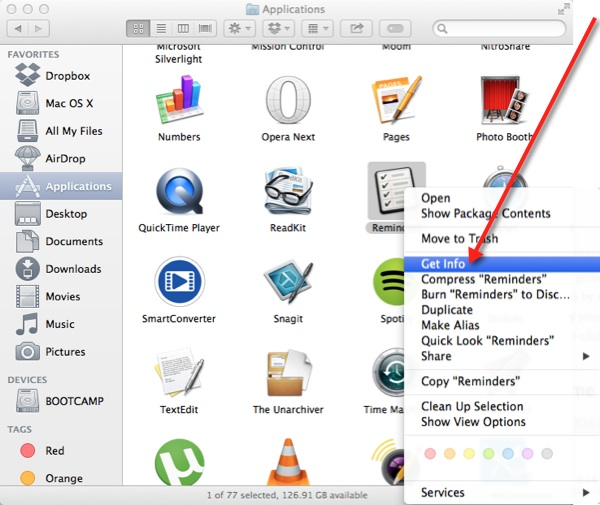 Right-click an app and select 'Get Info' to disable App Nap for it.