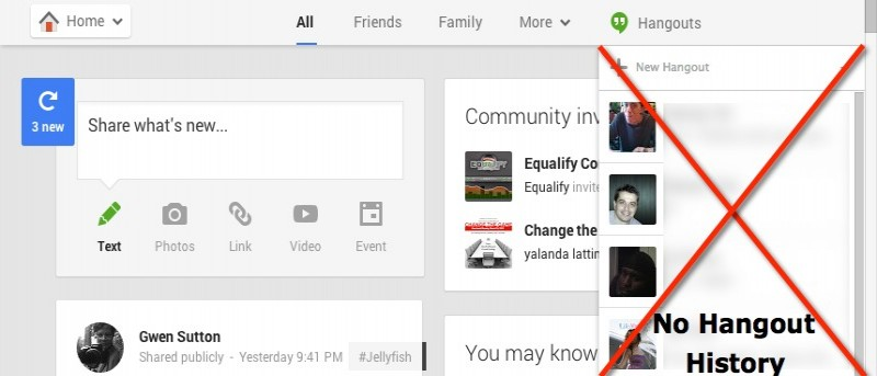 How to Disable Hangout History via Google+