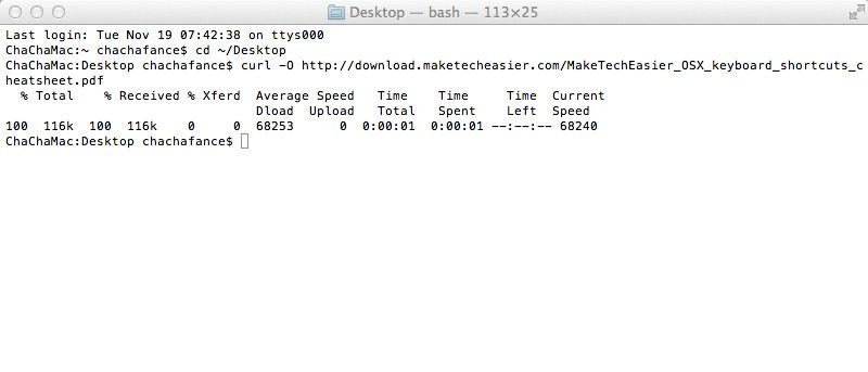 How to Download Files from Terminal in Mac OS X and View Its
