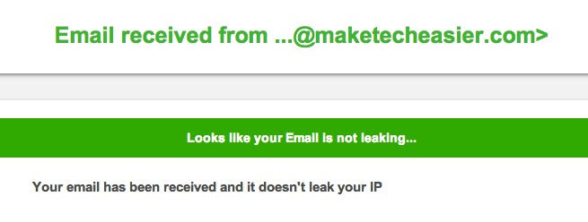 Hopefully, the results will show that your email is not leaking.
