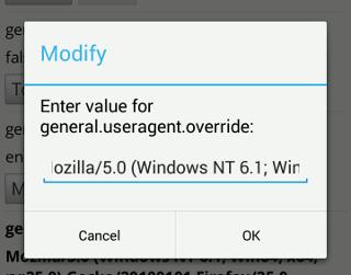 mobile-firefox-set-user-agent-value