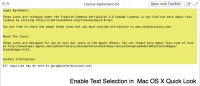 How to Enable Text Selection in Quick Look [Mac]