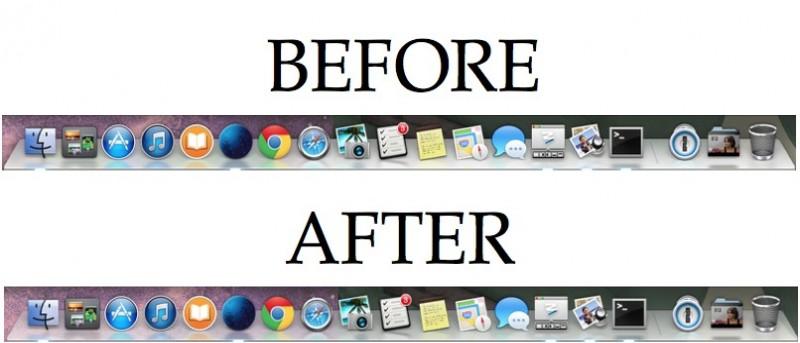 Make the Mac Dock Translucent in OS X Mavericks
