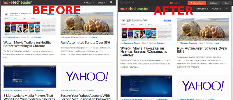 How to Instantly Preview Web Fonts on any Web Site in Real-Time