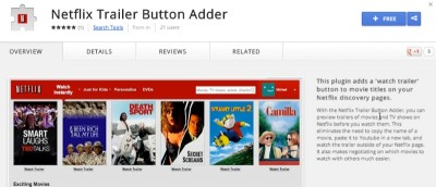 Watch Movie Trailers on Netflix Before Watching in Chrome