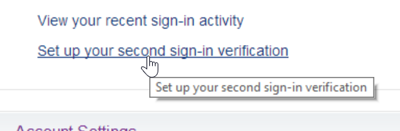 yahoo setup second sign in verification