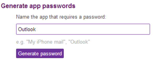 yahoo generate app password