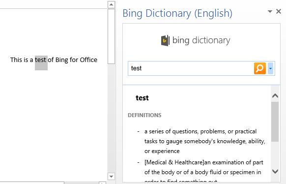 bing-dictionary