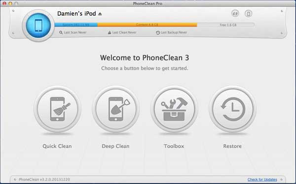 phoneclean-main-interface