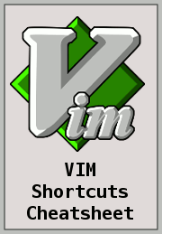 VIM Keyboard Shortcuts Cheatsheet